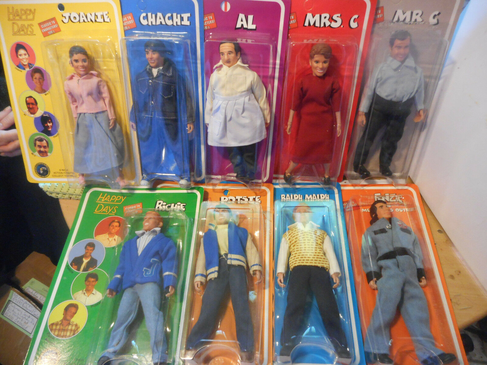 Happy days mego 9 figurine serie complete 1 et 2