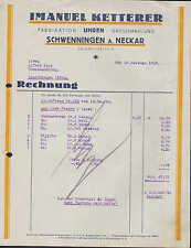 Schwenningen, fattura 1925, orologi-manifatturiera venticinquenne Ketterer