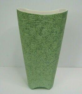 vintage Elegance mid century modern shawnee 1408 mint green vase 9'