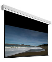 120 Ceiling Recessed Motorized Projector Screen White 16:9 Projection W/ Remote