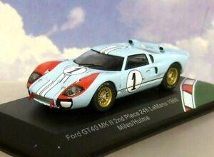 CMR-1-43-DIECAST-FORD-GT40-MKII-MK2-1-2nd-LE-MANS-1966-MILES-HULME-REAL-WINNER