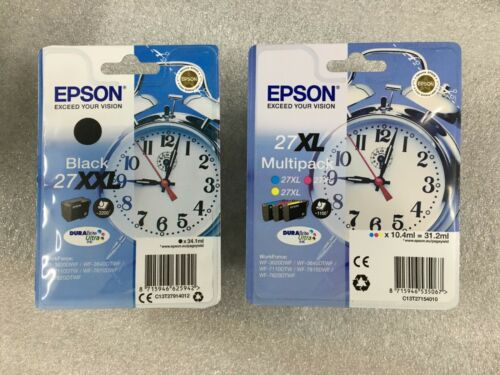 4er Set inchiostro originali EPSON 27xl Multipack 27xxl BLACK 11//2019 SVEGLIA fattura