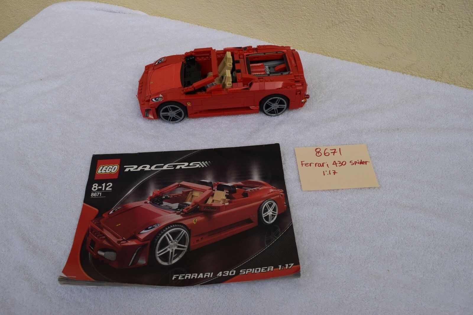 Lego Set 8671 Ferrari 430 Spider 1 1 1 17 scale RACERS 98% complete FAST SHIPPING ba3f06