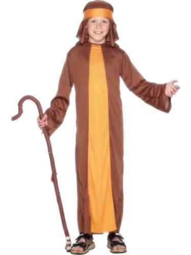 BOYS SHEPHERD FANCY DRESS COSTUME CHRISTMAS NATIVITY PLAY JOSEPH OUTFIT XMAS