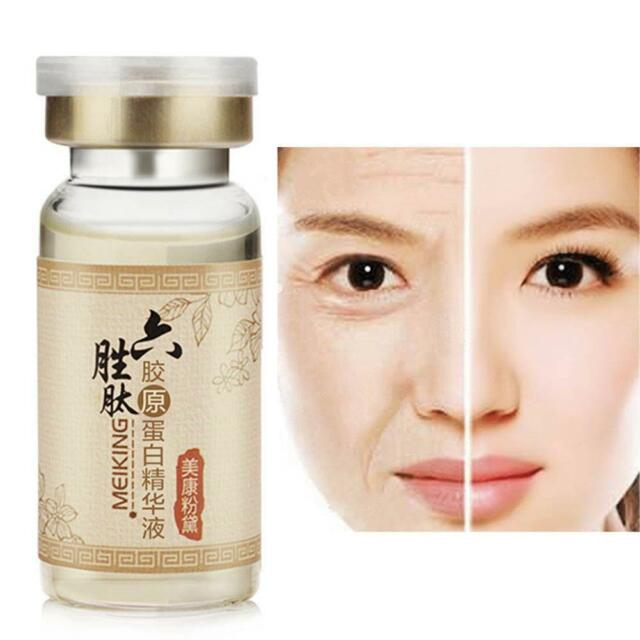 Six Peptide Aloe Vera Serum Anti Collagen Argireline Wrinkle Aging Face Skin New