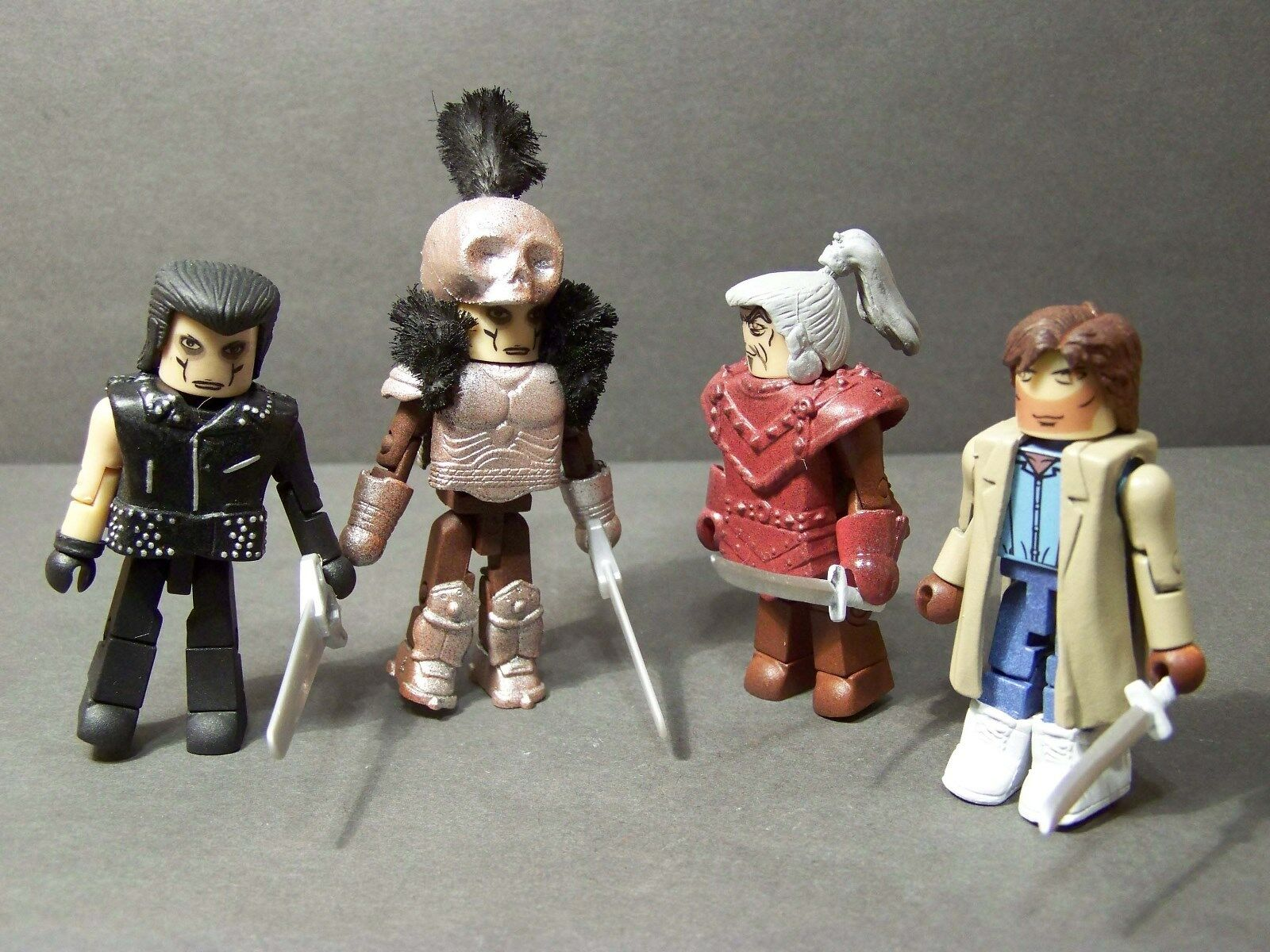 Custom minimate lot of ramirez, kurgan, medieval kurgan, macleod from HIGHLANDER