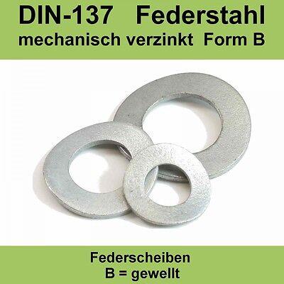 Stahl verzinkt 50 Stk DIN 137 Federscheibe B 6-18 mm