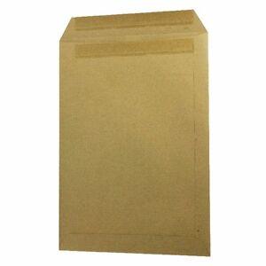 100 x C4/A4 Plain Manilla Self Seal Brown Envelopes Self Seal 80gsm 5022905990113