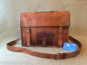 Handmade-Goat-Leather-15-034-Satchel-SLP-Laptop-Bag-Padded-Billy-Goat-Designs