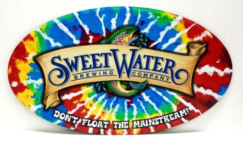 "Sweetwater Brewing Tye Dye Oval Tin Tacker Sign 19"" x 11"" New /& Free Ship"