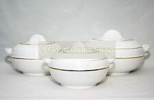 LARGE 3 Pc Hot Pot Food Warmer Storage Round Insulated Casserole Set WHITE PRO
