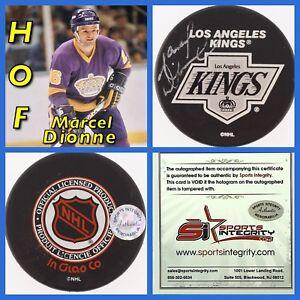 Los-Angeles-Kings-Marcel-Dionne-HOF-er-Signed-Puck-SI-Certified