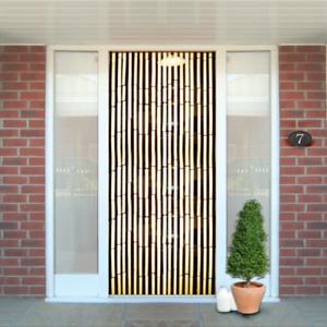 Puerta De Madera Natural de Bambú Pantalla Cortina Insecto Fly detección con cuentas puertas