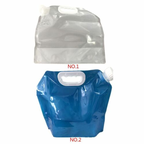 5L Outdoor Camping Collapsible Foldable Drinking Water Bag Carrier Container