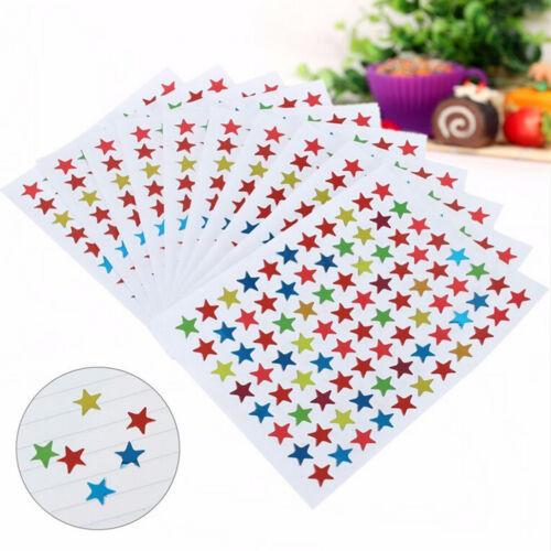 880X Star Shape Stickers For School Children Teacher Reward DIY CraftHFUK