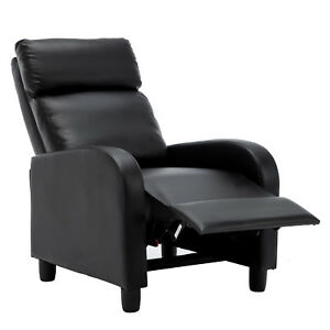 Black-Manual-Leisure-Recliner-Chair-Chaise-Couch-Accent-Lounge-Armchair-Sofa