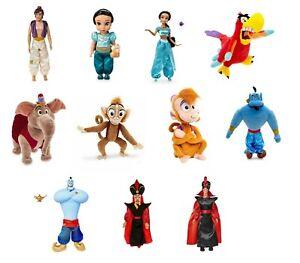 Disney-ALADDIN-Munecas-Peluche-Figuras-Jazmin-Jafar-Abu-Genio-Juguetes-Munecos