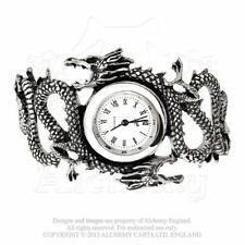 Alchemy Gothic 'IMPERIAL DRAGON' Wrist watch. Unique Stunning Double Dragon
