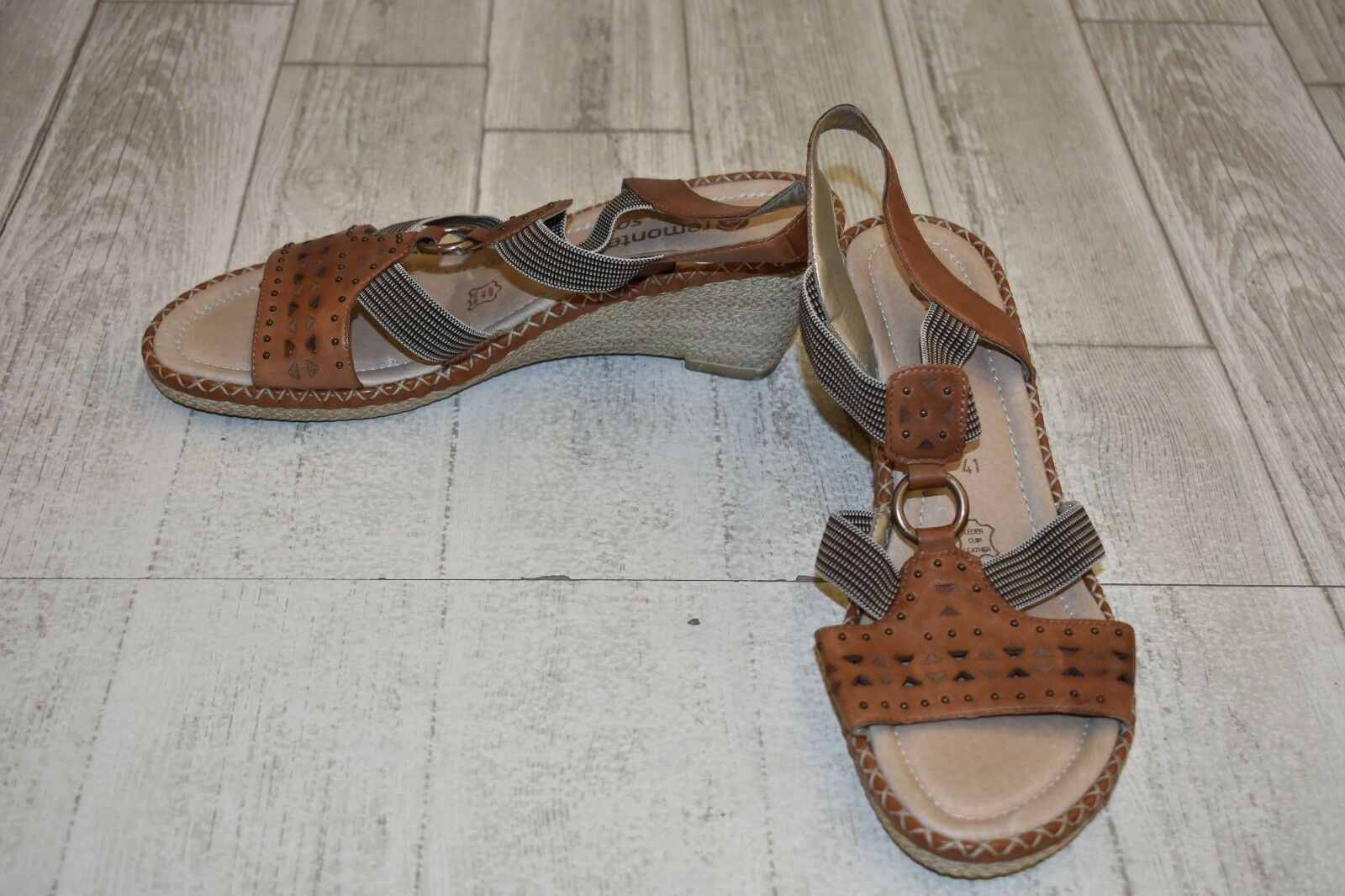 Remonte by Rieker 8641400929 Wedge Sandal - Women's Size 9.5 - Brown