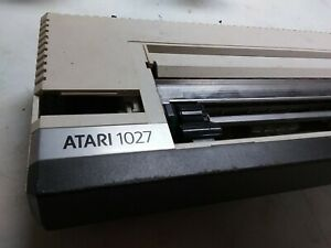 VINTAGE ATARI 1027 LETTER QUALITY PRINTER UNTESTED FOR PARTS No Power Cord