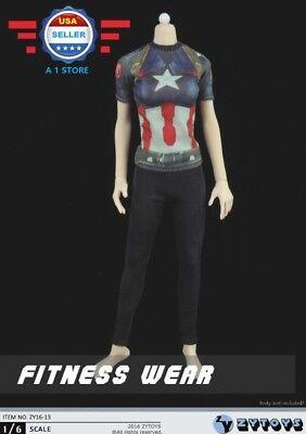 ZY toys 1//6 Captain America Graphic T Shirt Jeans Belt Set for 12/'/' MALE Figure