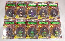 Complete Set of 10 Kidrobot TMNT Keychains Urban Vinyl Art Toy Action Figure Lot