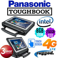 Panasonic Toughbook Cf-20 Mk1 Intel Ssd 4g Lte 12 Gps Rugged Laptop Cf-20cz900va