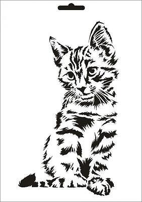 Wandschablone Maler T-shirt Schablone W-631 Katze ~ Umr Design Weder Zu Hart Noch Zu Weich