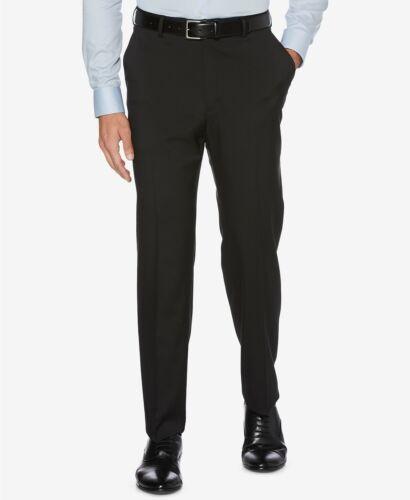 $75 Perry Ellis Flat Front Noir Stretch Robe Pantalon Hommes 36 x 29 Lavable Nouveau