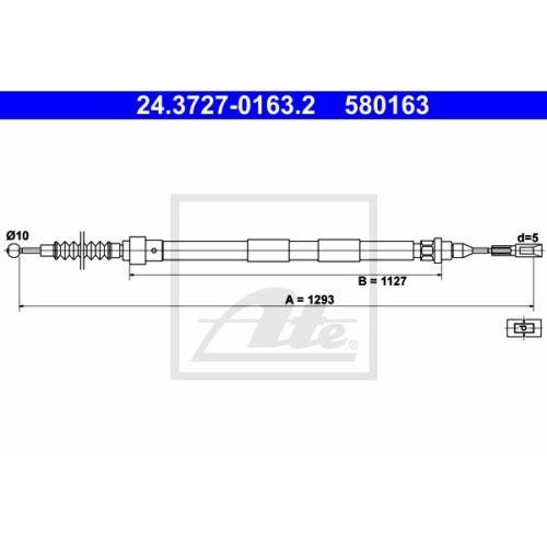 ORIGINAL ATE Handbremsseil Bremsseil Ford Seat VW ua Bj.95