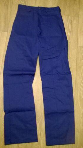 """2 x joblot Mens Cheap royal blue work Factory trousers 46/"""" waist Long NEW TR270"""