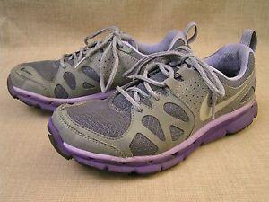 Nike Womens Flex Trail Grey & Purple Running Shoes 537696-002 Size 7.5 - EUC!