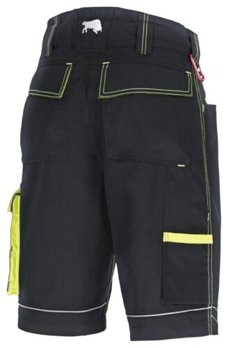 BULL Star arbeitsshort lavoro pantaloni ultra nero//lime tg 44