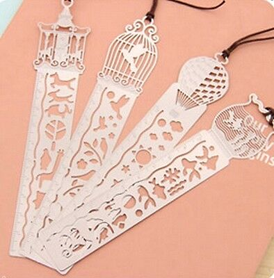 4191 Hollow Ultra-thin Metal Fairy Tale World Ruler Bookmark Creative Random 1pc