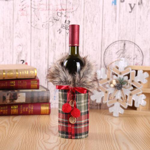 Merry Christmas Santa Wine Bottle Bag Cover Xmas Festival Home Party Table Decor