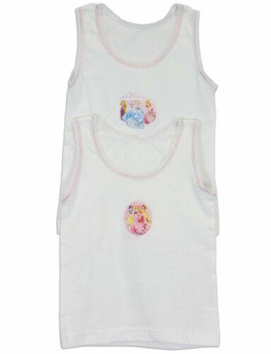 DISNEY Girl/'s confezione da 2 100/% Cotone Biancheria Intima Principessa Gilet