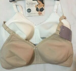M/&S Nursing Maternity T Shirt Bra Pack Of 2 34C BNWT