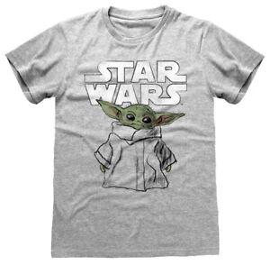 Star Wars - The Mandalorian 'Child Sketch' (Gris) T-Shirt