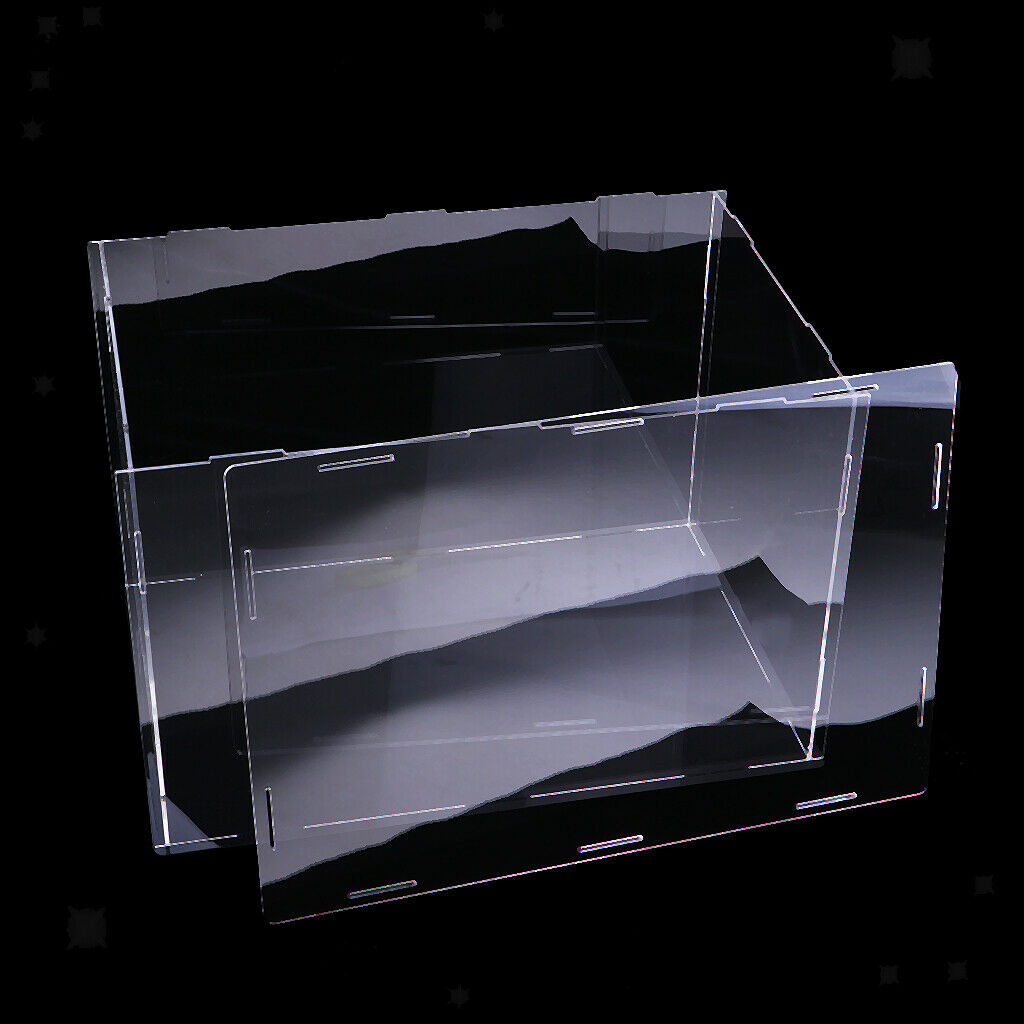 Acryl Vitrine Staubdicht Show Box Für Flugzeug Auto Stiefel Modell 40x30x30cm