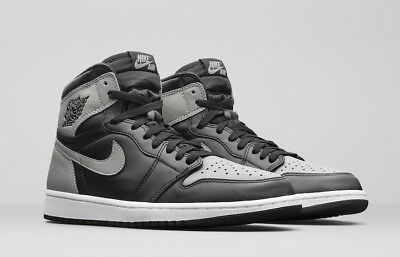 cheap for discount 89c7c fabdc NIKE AIR JORDAN 1 RETRO HIGH OG SHADOW BLACK GREY 555088 013 SIZE 13 I
