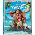 Moana (Blu-ray/DVD, 2017, 2-Disc Set, Includes Digital Copy)
