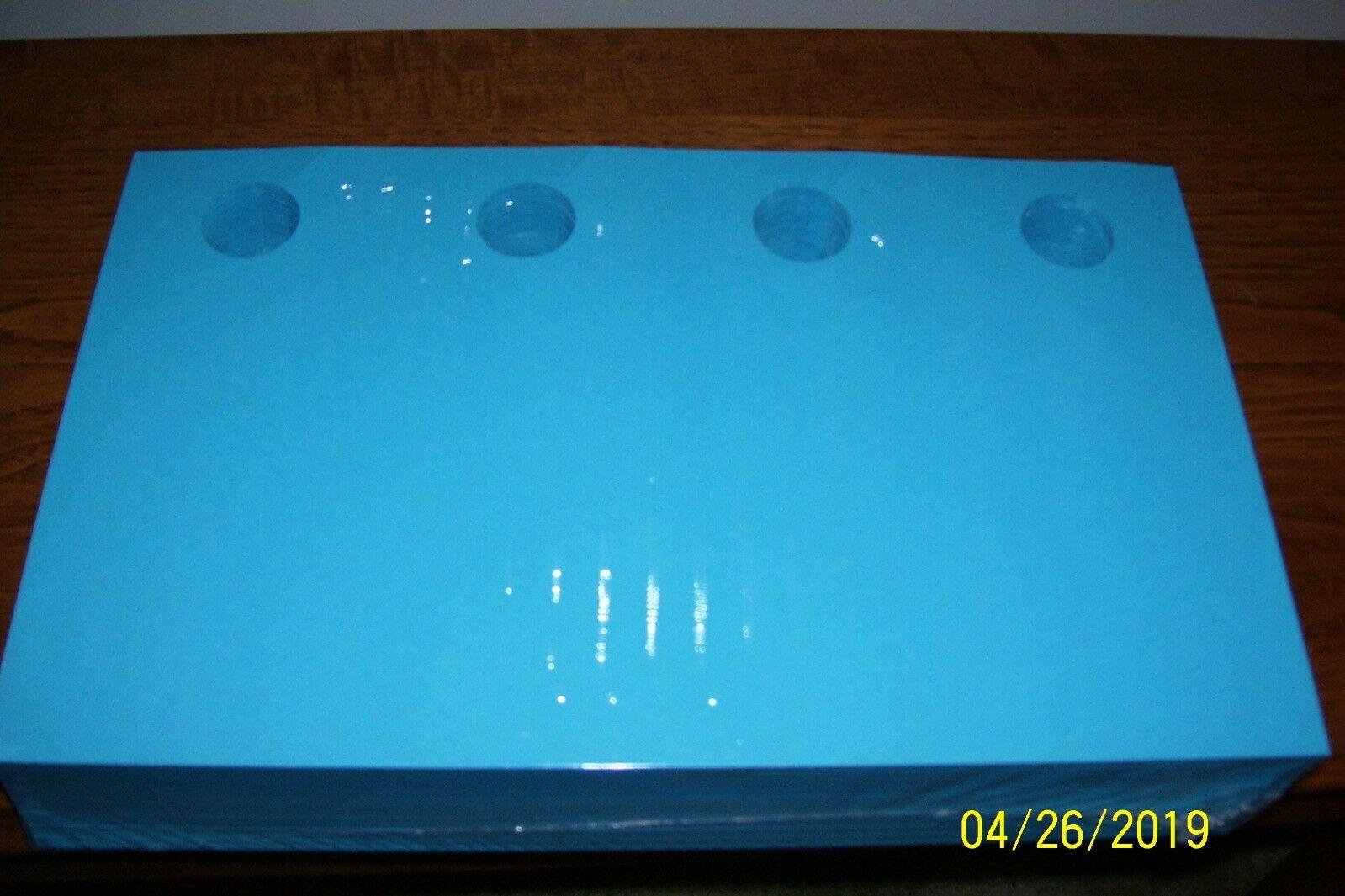 Blanks USA LEGAL size 4-up Door Hanger with holes 1000 Hangers per pkg bluee