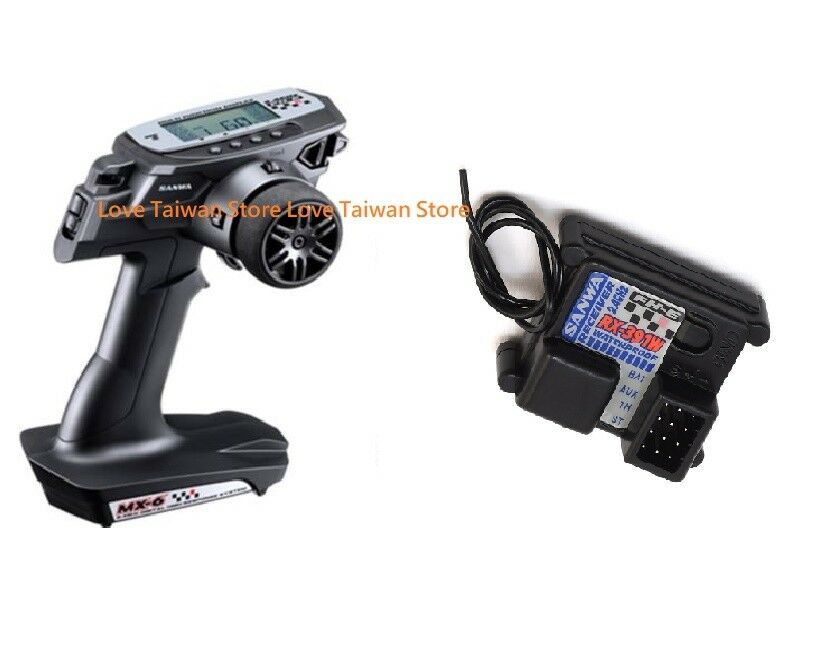 New Sanwa MX-6 MX6 (3-Ch) System 2.4GHz Radio + RX-391W Receiver x 1 Pcs