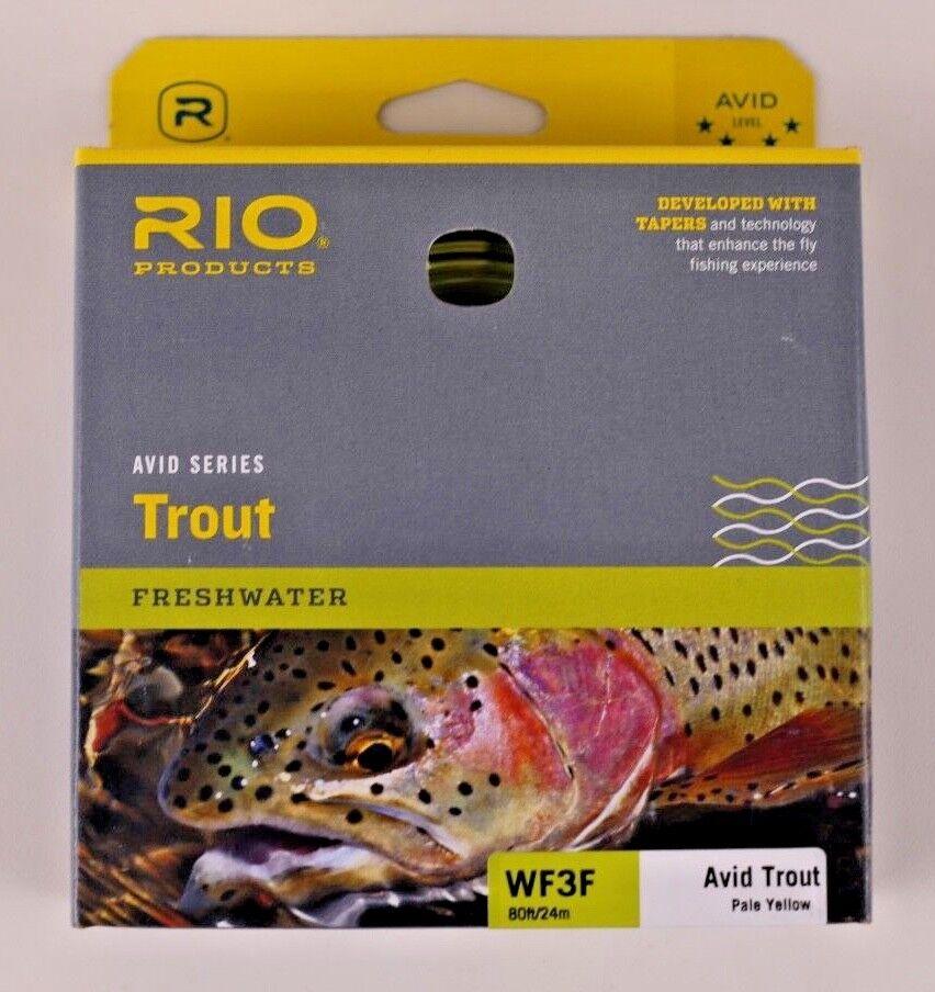 Línea Mosca Rio Avid Trucha WF3F amarillo  pálido Envío Gratis 6-20128  ventas calientes