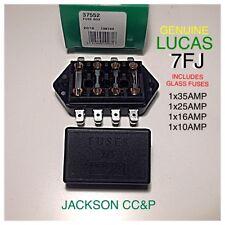 LUCAS 7FJ 37552 GLASS FUSE BOX WITH FUSES 1X35AMP 1X25AMP 1X16AMP 1X10AMP