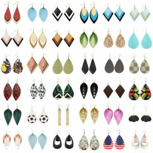 216styles-Handmade-Leather-Hook-Earrings-Women-Boho-Jewelry-Leaf-Teardrop-Dangle