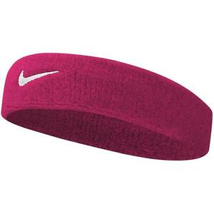 3dda0b116410 Image is loading Nike-Headband-Vivid-Pink-White-Free-P-amp-