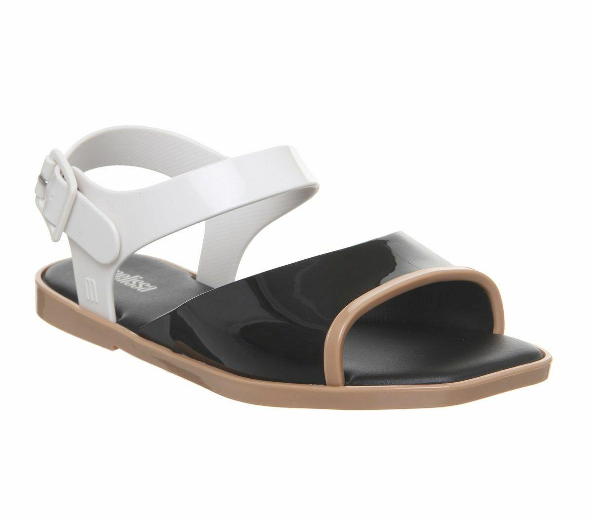 Da Donna Melissa Crush Sandali neri a contrasto scarpe basse