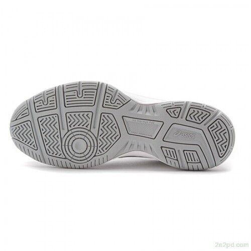 Asics E459l cordones Zapatillas cordones con de deporte blanco Gel 0193 con plata Gamepoint qwqxST0C