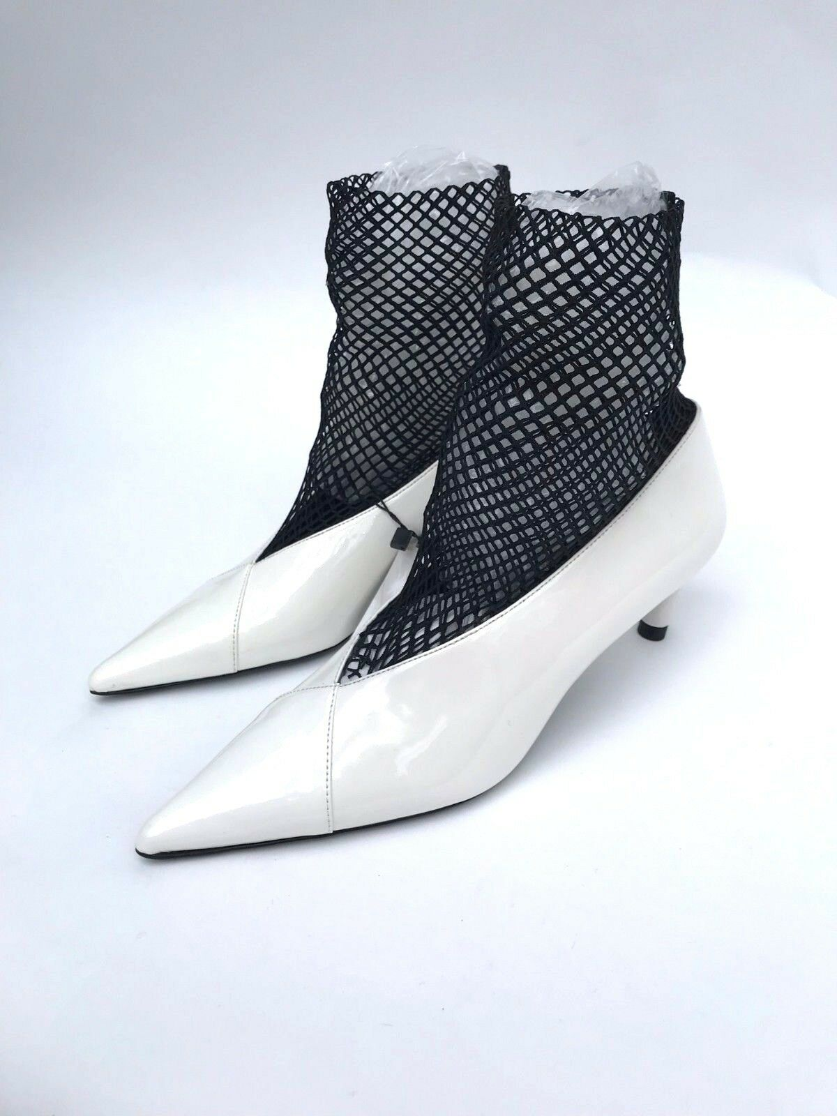 ZARA HEEL Weiß SOCK STYLE HIGH HEEL ZARA COURT Schuhe SIZE UK5 EUR38 US7.5 5c2dfc